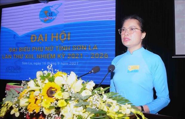 Dai hoi Dai bieu phu nu tinh Son La lan thu XIII, nhiem ky 2021-2016: Dai hoi diem theo hinh thuc truc tuyen den cac tinh, thanh pho hinh anh 2