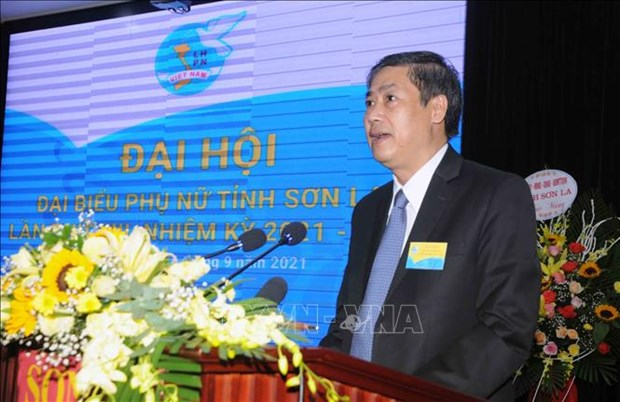 Dai hoi Dai bieu phu nu tinh Son La lan thu XIII, nhiem ky 2021-2016: Dai hoi diem theo hinh thuc truc tuyen den cac tinh, thanh pho hinh anh 7