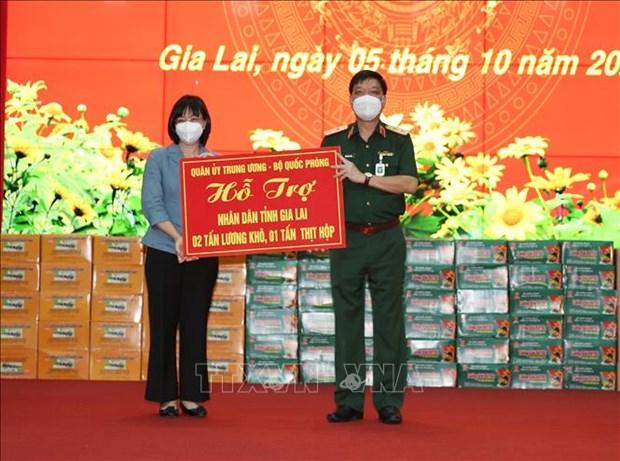 Trung tuong Ngo Minh Tien kiem tra cong tac phong, chong dich tai Gia Lai hinh anh 2
