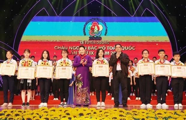 "Dai hoi Chau ngoan Bac Ho toan quoc lan thu IX: Vinh danh nhung ""bong hoa nghin viec tot"" hinh anh 4"