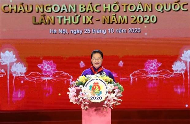 "Dai hoi Chau ngoan Bac Ho toan quoc lan thu IX: Vinh danh nhung ""bong hoa nghin viec tot"" hinh anh 2"