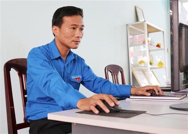 "Anh Nguyen Hoang Tien - nguoi ""thu linh"" thanh nien tieu bieu cua Ninh Thuan hinh anh 1"