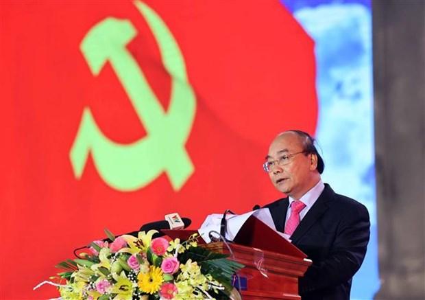 Thu tuong Nguyen Xuan Phuc du le khanh thanh Tuong dai Bac Ho voi nong dan Viet Nam tai Thai Binh hinh anh 3