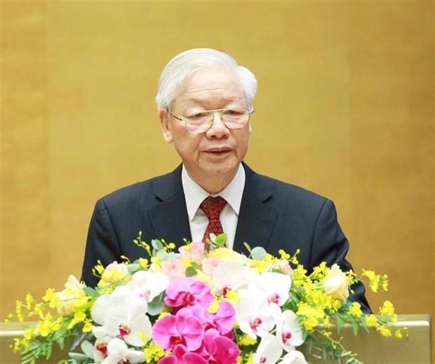 Tong Bi thu Nguyen Phu Trong: Ra suc hoc tap, no luc phan dau va ren luyen, khong ngung lam theo tu tuong, dao duc va phong cach cua Chu tich Ho Chi Minh hinh anh 1