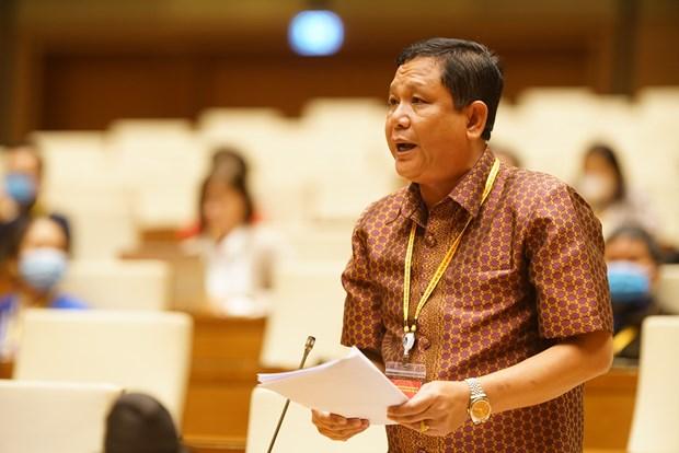 Chu tich Quoc hoi Nguyen Thi Kim Ngan gap mat Doan dai bieu du Dai hoi dai bieu toan quoc cac dan toc thieu so Viet Nam lan thu II hinh anh 4
