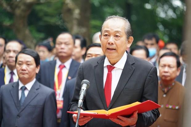 Doan dai bieu du Dai hoi dai bieu toan quoc cac dan toc thieu so Viet Nam lan thu II dang huong tuong niem cac Vua Hung hinh anh 4