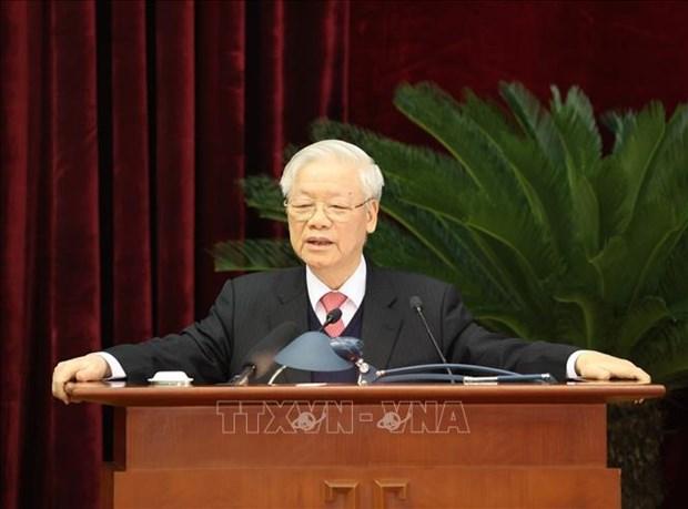 Be mac Hoi nghi lan thu 14 Ban Chap hanh Trung uong khoa XII: Nhat tri cao nhan su tham gia Bo Chinh tri, Ban Bi thu khoa XIII hinh anh 1