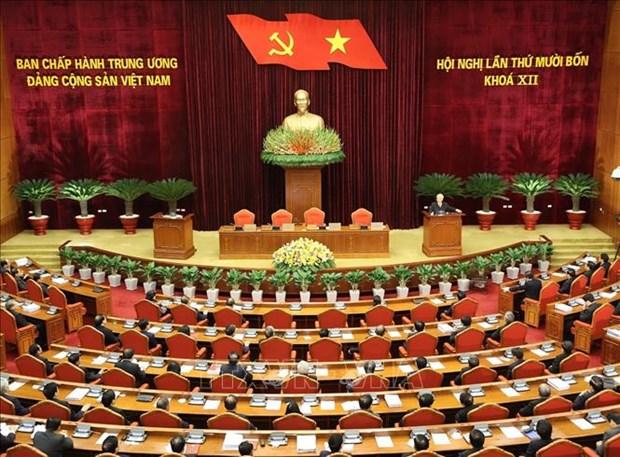 Be mac Hoi nghi lan thu 14 Ban Chap hanh Trung uong khoa XII: Nhat tri cao nhan su tham gia Bo Chinh tri, Ban Bi thu khoa XIII hinh anh 2