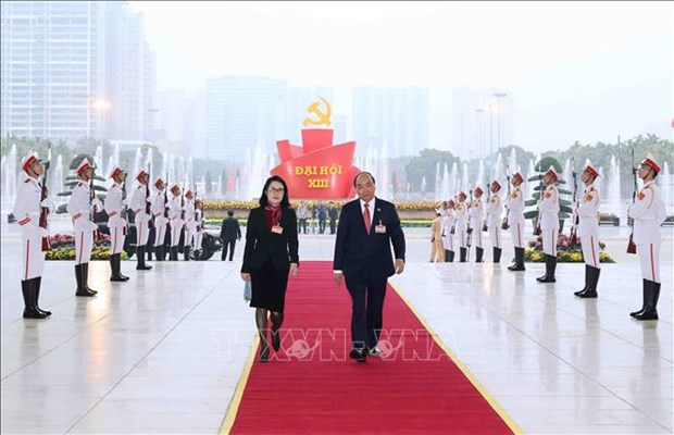 Khai mac trong the Dai hoi dai bieu toan quoc lan thu XIII Dang Cong san Viet Nam hinh anh 4