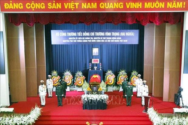 Le truy dieu va an tang nguyen Pho Thu tuong Truong Vinh Trong hinh anh 1
