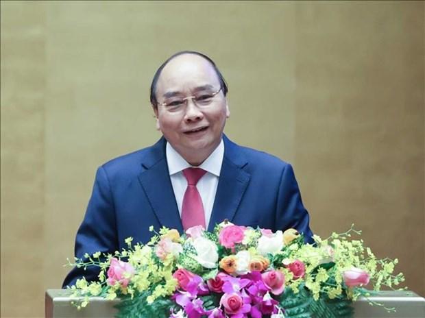 Thu tuong Nguyen Xuan Phuc trinh bay chuyen de Chien luoc phat trien kinh te xa hoi 10 nam hinh anh 1