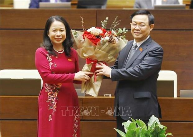 Ba Vo Thi Anh Xuan duoc bau giu chuc Pho Chu tich nuoc nhiem ky 2016 - 2021 hinh anh 2