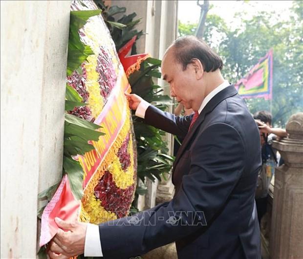 Chu tich nuoc Nguyen Xuan Phuc dang huong tai Le Gio To Hung Vuong nam Tan Suu 2021 hinh anh 11