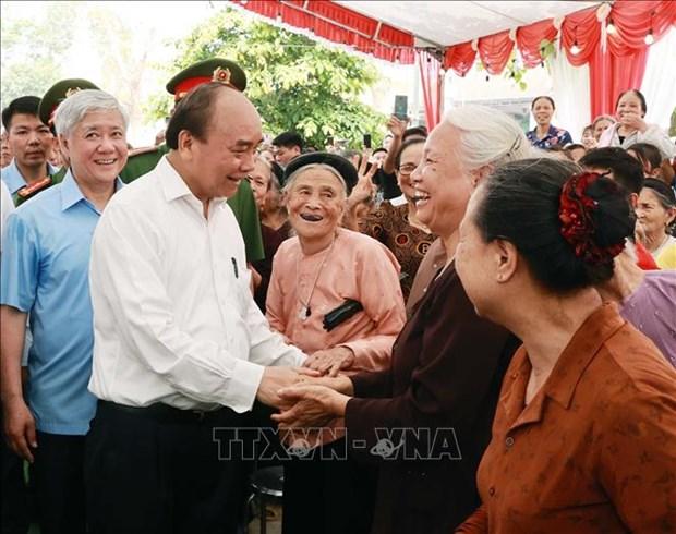 Chu tich nuoc Nguyen Xuan Phuc dang huong tai Le Gio To Hung Vuong nam Tan Suu 2021 hinh anh 14