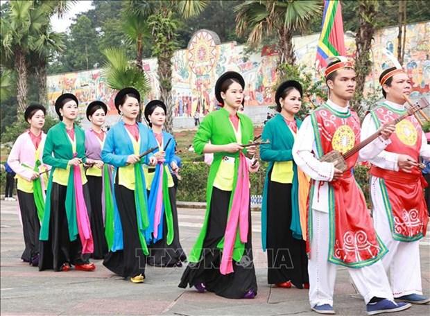 Chu tich nuoc Nguyen Xuan Phuc dang huong tai Le Gio To Hung Vuong nam Tan Suu 2021 hinh anh 6