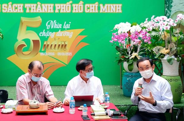 Bi thu Thanh uy Nguyen Van Nen tham Duong sach thanh pho Ho Chi Minh hinh anh 7