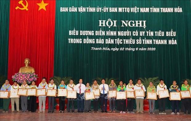 Thanh Hoa bieu duong 120 nguoi co uy tin tieu bieu trong dong bao dan toc thieu so hinh anh 1