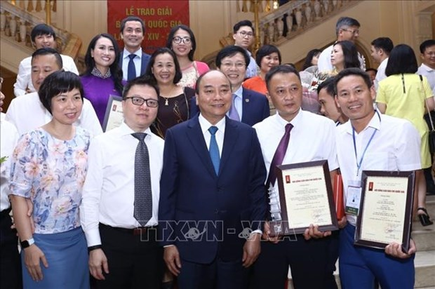 Le trao Giai Bao chi Quoc gia lan thu XIV, nam 2019 hinh anh 1