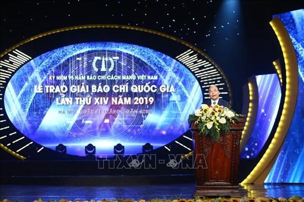 Le trao Giai Bao chi Quoc gia lan thu XIV, nam 2019 hinh anh 2