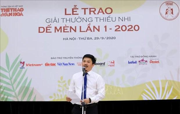 """Giai thuong thieu nhi De Men mua dau tien: Nha van Nguyen Nhat Anh duoc vinh danh la """"Hiep si De Men"""" hinh anh 2"""
