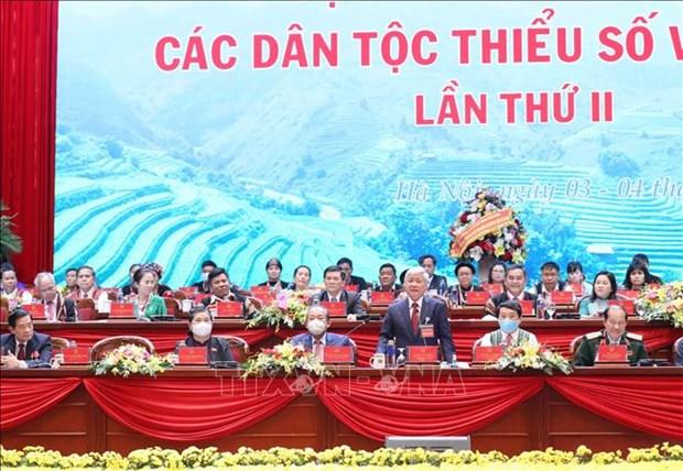 Thong qua Quyet tam thu cua Dai hoi dai bieu toan quoc cac dan toc thieu so Viet Nam lan thu II hinh anh 4