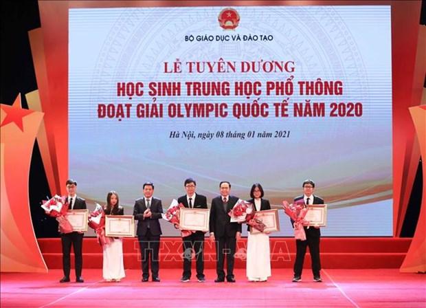Tuyen duong hoc sinh Trung hoc pho thong doat giai Olympic quoc te nam 2020 hinh anh 5