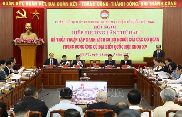 Doan Chu tich Uy ban Trung uong Mat tran To quoc Viet Nam to chuc Hoi nghi Hiep thuong lan thu hai hinh anh 1