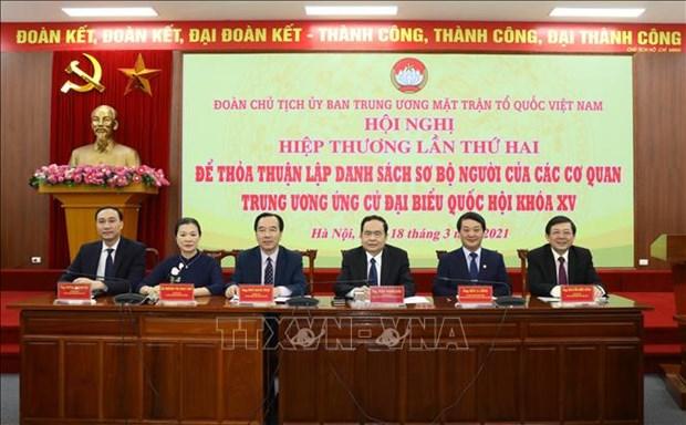 Doan Chu tich Uy ban Trung uong Mat tran To quoc Viet Nam to chuc Hoi nghi Hiep thuong lan thu hai hinh anh 2