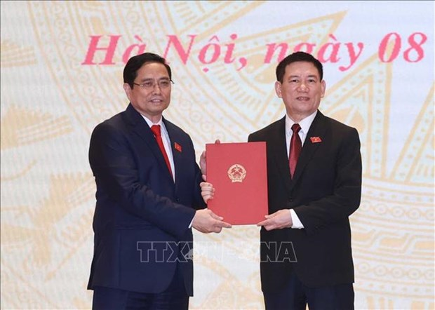 Chu tich nuoc Nguyen Xuan Phuc, Thu tuong Chinh phu Pham Minh Chinh du Le ban giao cong viec cua Thu tuong Chinh phu hinh anh 1
