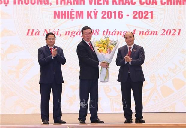 Chu tich nuoc Nguyen Xuan Phuc, Thu tuong Chinh phu Pham Minh Chinh du Le ban giao cong viec cua Thu tuong Chinh phu hinh anh 3