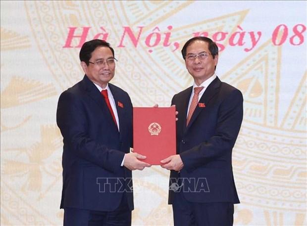Chu tich nuoc Nguyen Xuan Phuc, Thu tuong Chinh phu Pham Minh Chinh du Le ban giao cong viec cua Thu tuong Chinh phu hinh anh 4