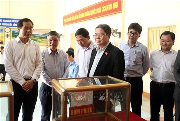 Pho Chu tich Quoc hoi Nguyen Duc Hai kiem tra cong tac chuan bi bau cu tai tinh Lao Cai hinh anh 1