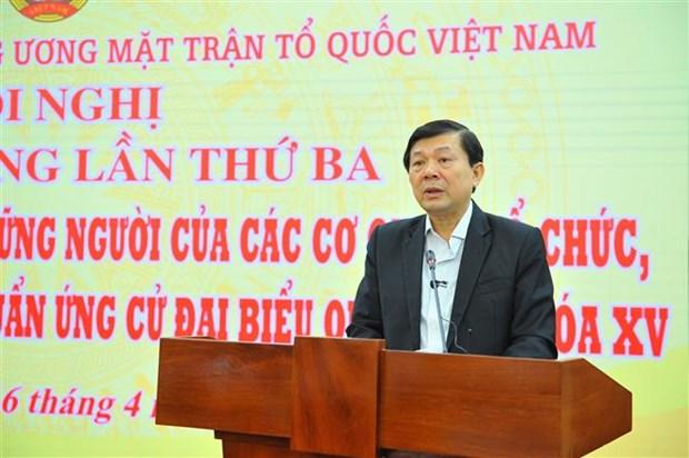 Hoi nghi Hiep thuong lan ba o Trung uong thong qua danh sach 205 nguoi ung cu dai bieu Quoc hoi hinh anh 1