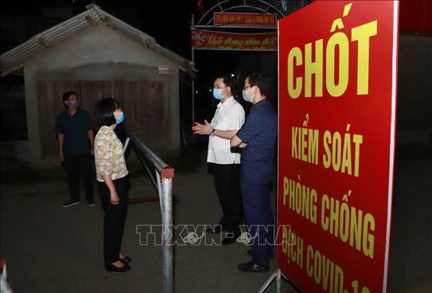 Dich COVID-19: Vinh Phuc thiet lap cach ly y te tai thon Tien Phong hinh anh 1