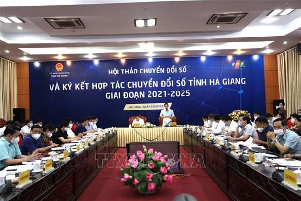 Thuc day chuyen doi so toan dien tai tinh Ha Giang giai doan 2021-2025 hinh anh 1