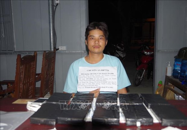 Dien Bien bat qua tang doi tuong van chuyen trai phep 10 banh heroin hinh anh 2