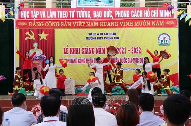 Khai giang nam hoc moi 2021-2022 o tinh mien nui Lai Chau hinh anh 1
