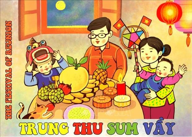 """Ha Noi: Trung bay truc tuyen """"Trung thu sum vay"""" tai Hoang thanh Thang Long hinh anh 3"""