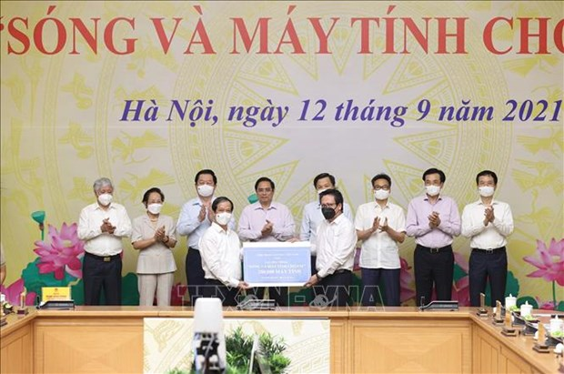 """Thu tuong Pham Minh Chinh phat dong Chuong trinh """"Song va may tinh cho em"""" hinh anh 2"""