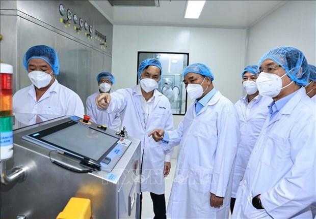 លោកបរធានរដឋ ងវៀនសនភក អញជើញទសសនាកចចករមហនភាគហនជវបចចេកវទយាឱសថ Nanogen hinh anh 3