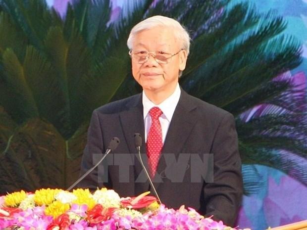 越共中央总书记阮富仲今日启程访问柬埔寨 hinh anh 1