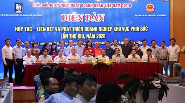 北部企业合作—沟通与发展论坛在和平省举行 hinh anh 3
