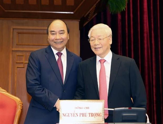 越共第十二届中央委员会第十三次全体会议在河内开幕 hinh anh 2