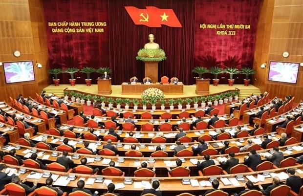 越共第十二届中央委员会第十三次全体会议在河内开幕 hinh anh 1