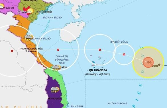 8号台风距离越南黄沙群岛以东方向220公里强度可能将继续加强 hinh anh 1