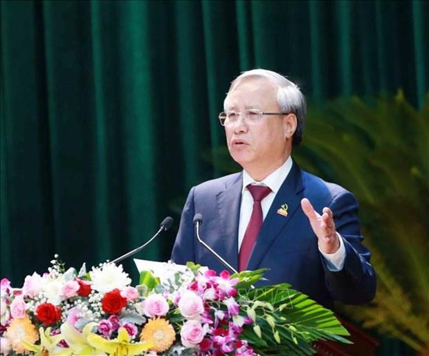 迎接党的十三大:陈国旺出席越共宁平省第22次代表大会 hinh anh 2