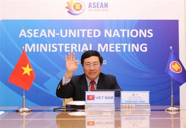 ASEAN 2020:东盟-联合国外交部长会议召开 hinh anh 1