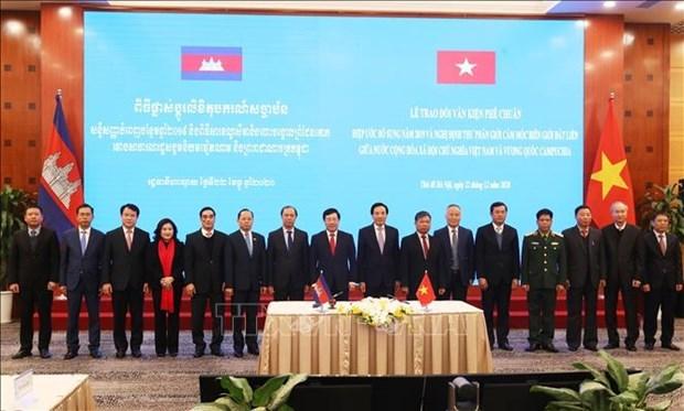 越柬经济、文化和科技联合委员会第18次会议以视频形式举行 hinh anh 2