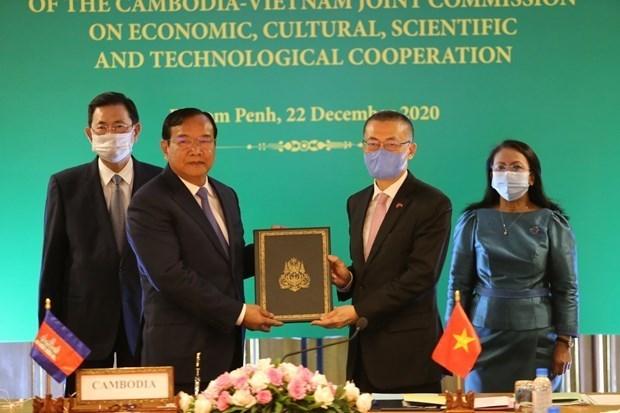 关于越南与柬埔寨陆地边界勘界立碑成果的两项法律文件正式生效 hinh anh 2