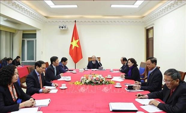 越南政府总理阮春福与美国总统特朗普通电话 hinh anh 2